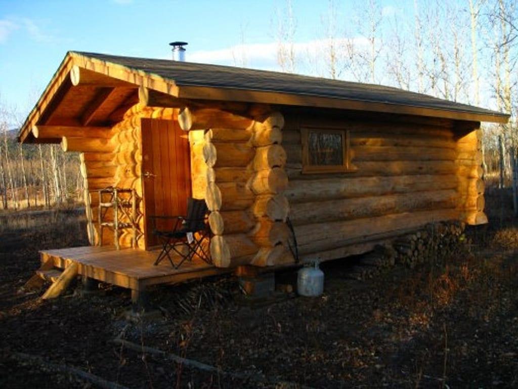 Hütte am See für Survival Camp